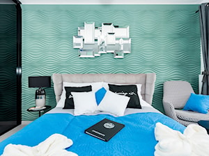 Design - Średnia miętowa sypialnia dla gości - zdjęcie od Apartments M&M- obsługa i aranżacja nieruchomości