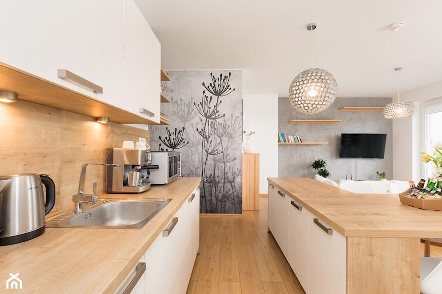 Apartament 85 metrów, dwupoziomowy, nowoczesny  Duża otwarta kuchnia dwurzęd