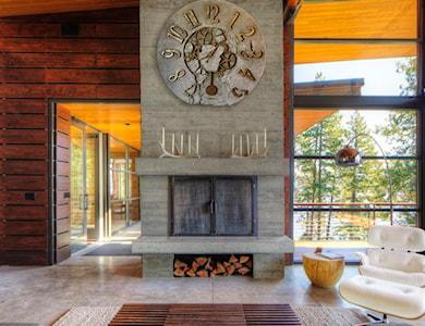 duży zegar ścienny, kominek - zdjęcie od ZegaryDesign