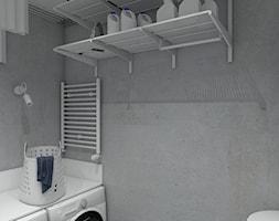 Dom pod Krakowem - Mała zamknięta garderoba przy łazience, styl skandynawski - zdjęcie od PepeInteriors
