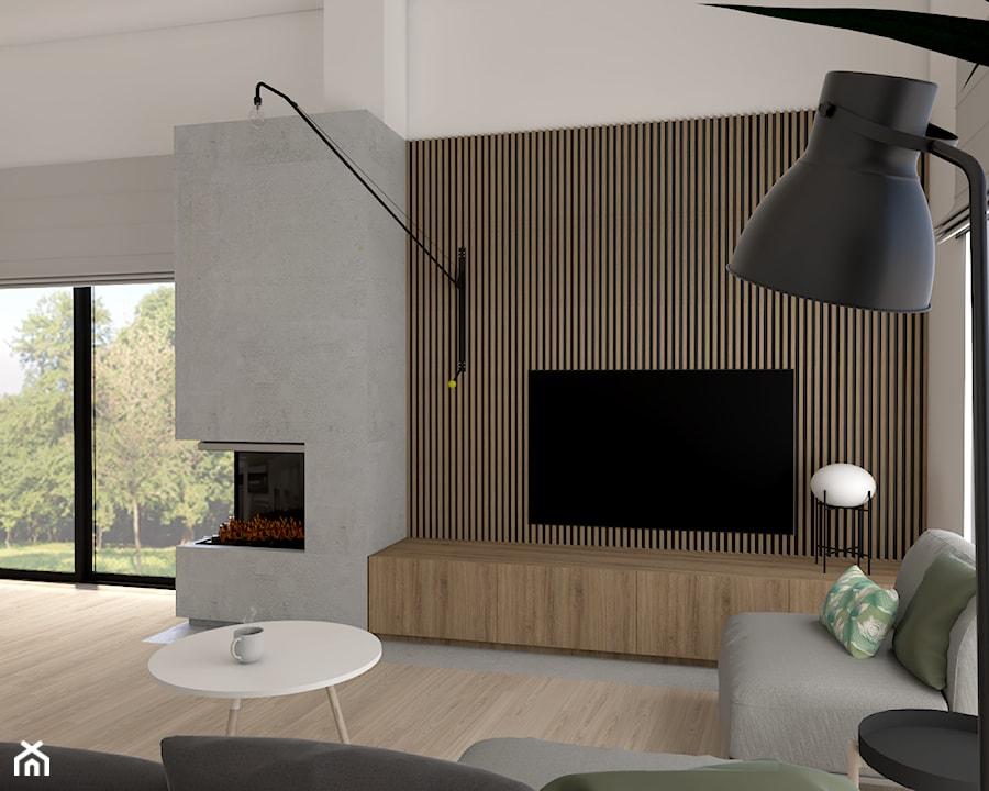 Dom pod Krakowem - Średni biały salon, styl skandynawski - zdjęcie od PepeInteriors
