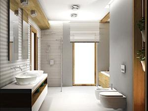 łazienka w domu pod Białymstokiem - zdjęcie od DESIGN HOUSE