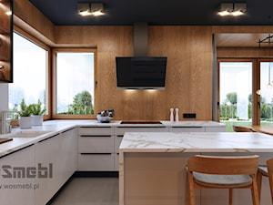 Kuchnia z Jadalnią w Domu Jednorodzinnym - zdjęcie od WOSMEBL Rzeszów Meble na wymiar