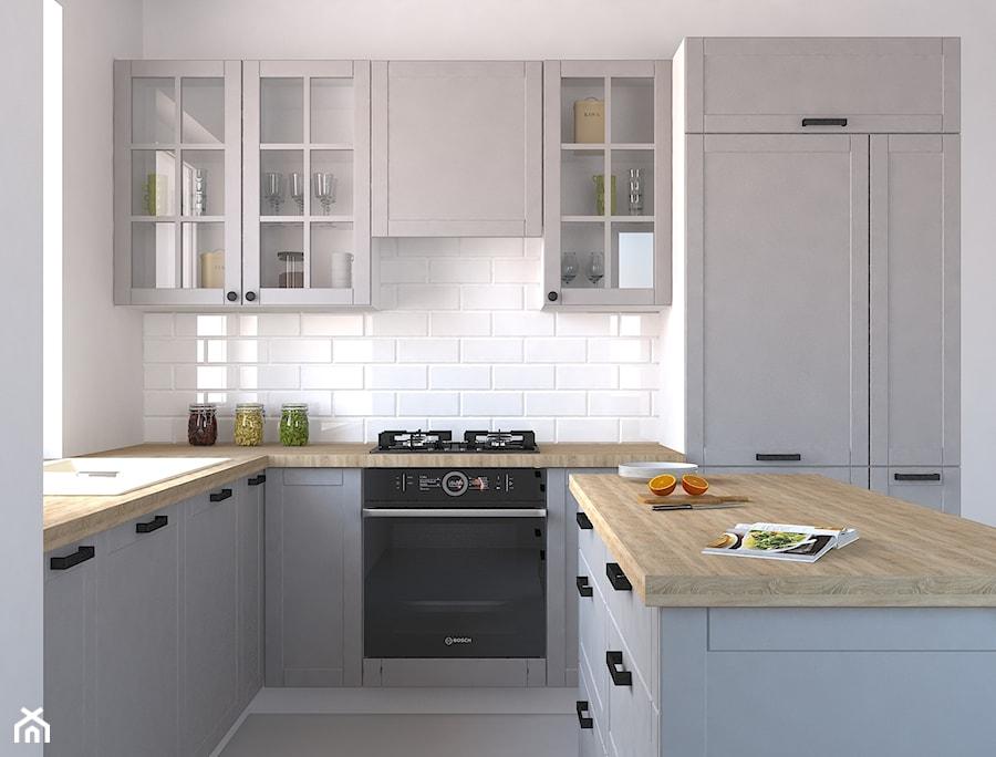 projekt kuchni w stylu skandynawskim zdjęcie od wosmebl