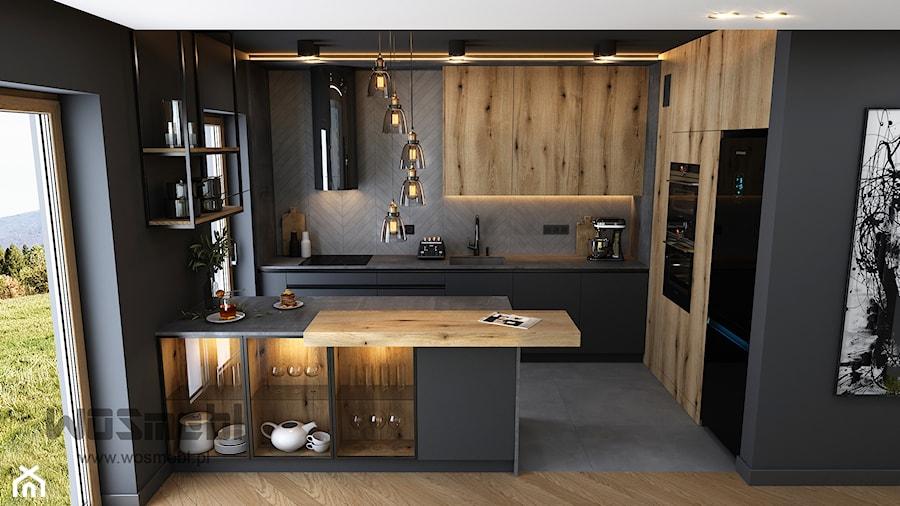 Industrialna Kuchnia - Kuchnia, styl industrialny - zdjęcie od WOSMEBL Rzeszów Meble na wymiar