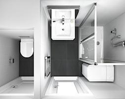 Łazienki z lotu ptaka - Mała biała łazienka w bloku bez okna - zdjęcie od RAVAK