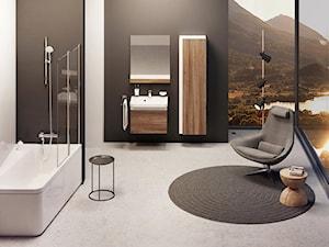 Koncept 10⁰ - Duża biała łazienka w domu jednorodzinnym jako salon kąpielowy z oknem - zdjęcie od RAVAK