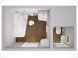 Łazienki z lotu ptaka - Mała biała szara łazienka w bloku bez okna - zdjęcie od RAVAK
