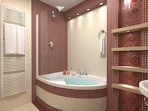 Średnia biała brązowa łazienka na poddaszu w bloku w domu jednorodzinnym bez okna - zdjęcie od RAVAK