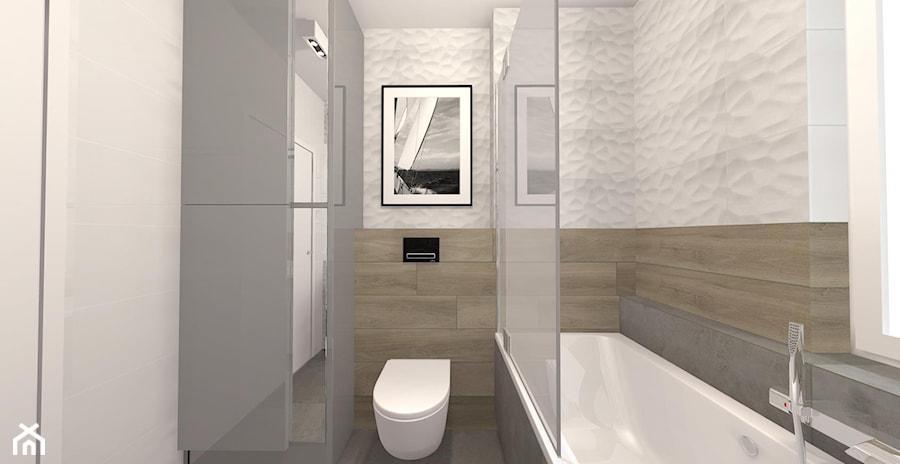 łazienka Nowoczesna Mała Biała Szara łazienka W Bloku W Domu