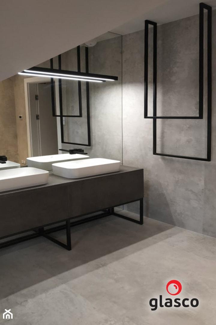 Glasco Liczy się EFEKT - Średnia łazienka na poddaszu w bloku w domu jednorodzinnym bez okna - zdjęcie od Glasco