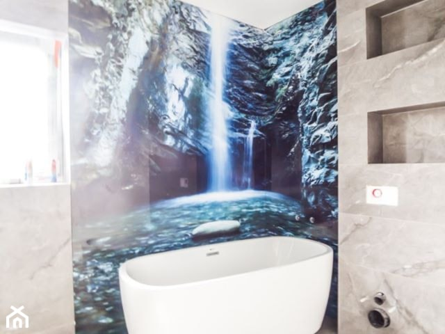 Łazienki ze szkłem laminowanym glasco