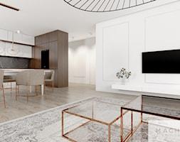 Elegancja w nowoczesnym wydaniu - salon - zdjęcie od Machowska Studio Projektowe - Homebook