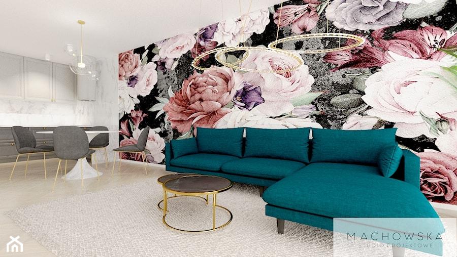 Elegancja w nowoczesnym wydaniu - salon - zdjęcie od Machowska Studio Projektowe