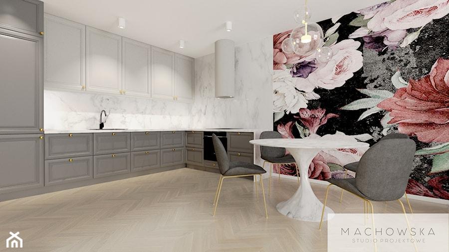 Elegancja w nowoczesnym wydaniu - kuchnia z jadalnią - zdjęcie od Machowska Studio Projektowe
