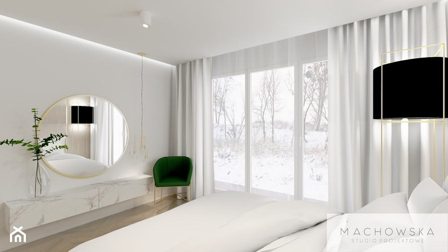 Elegancja w nowoczesnym wydaniu - sypialnia - zdjęcie od Machowska Studio Projektowe