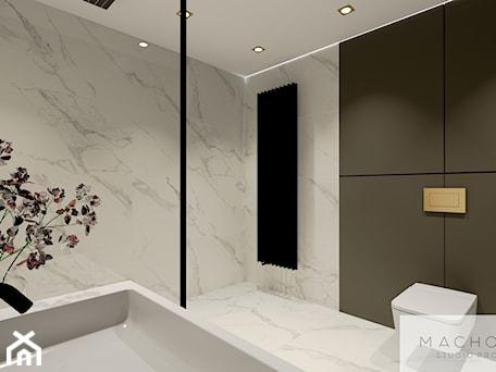 Aranżacje wnętrz - Łazienka: Elegancja w nowoczesnym wydaniu - łazienka - Machowska Studio Projektowe. Przeglądaj, dodawaj i zapisuj najlepsze zdjęcia, pomysły i inspiracje designerskie. W bazie mamy już prawie milion fotografii!