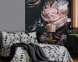 Delikatne kwiaty na czarnym tle - zdjęcie od ubierzsciany.pl - Homebook