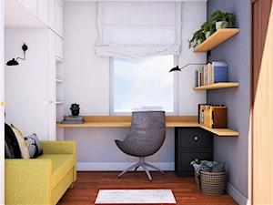 małe domowe biuro i pokój gościnny, z funkcją przechowywania - zdjęcie od JUKA design Pracownia Zmian