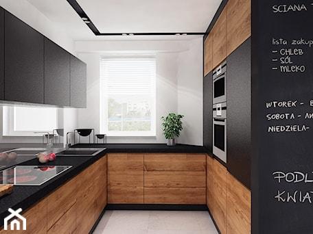 Aranżacje wnętrz - Kuchnia: Projekt 10 - Średnia otwarta szara kuchnia w kształcie litery u z oknem, styl minimalistyczny - PASS Architekci. Przeglądaj, dodawaj i zapisuj najlepsze zdjęcia, pomysły i inspiracje designerskie. W bazie mamy już prawie milion fotografii!