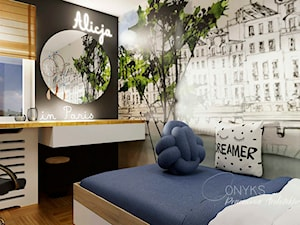 Pokój nastolatki - zdjęcie od Pracownia wnętrz Onyks Anna Oniszk-Popławska