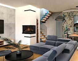 Nowoczesny+salon+z+industrialnymi+akcentami+-+zdj%C4%99cie+od+BS+Studio+Projektowe