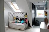 szczyty górskie na ścianie w pokoju dziecka