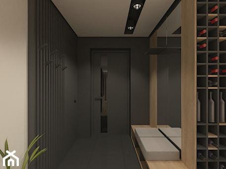 Aranżacje wnętrz - Hol / Przedpokój: JAPANESE CUT | 2018 - Duży czarny szary hol / przedpokój, styl minimalistyczny - L42 Architektura. Przeglądaj, dodawaj i zapisuj najlepsze zdjęcia, pomysły i inspiracje designerskie. W bazie mamy już prawie milion fotografii!