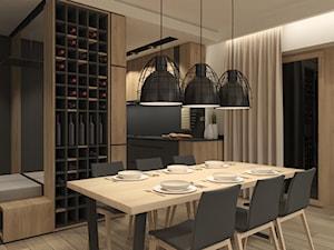 JAPANESE CUT | 2018 - Średnia otwarta szara jadalnia w kuchni, styl minimalistyczny - zdjęcie od L42 Architektura