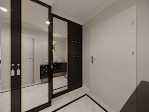 Projekt mieszkania łaczący klasykę z nowoczesnością - Średni szary hol / przedpokój, styl eklektyczny - zdjęcie od Artema Pracownia Architektury Wnętrz Agnieszka Krawczyk