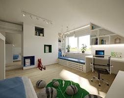 Projekt pokoju dziecięcego - Średni biały beżowy pokój dziecka dla chłopca dla ucznia dla niemowlaka dla malucha dla nastolatka, styl skandynawski - zdjęcie od Artema Pracownia Architektury Wnętrz Agnieszka Krawczyk