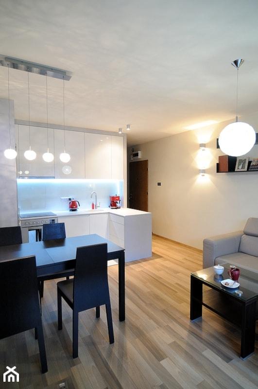 nowoczesny salon z aneksem kuchennym zdjęcie od artema