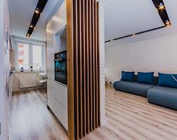 Mieszkanie pod wynajem - Średni salon z kuchnią z jadalnią, styl skandynawski - zdjęcie od OptimumArt Pracownia Aranżacji Wnętrz - Homebook
