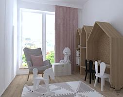 ARTYSTYCZNY ŻOLIBORZ - Mały biały pokój dziecka dla chłopca dla dziewczynki dla ucznia dla malucha, styl skandynawski - zdjęcie od KRUBA DESIGN