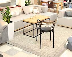 Mały biały salon z jadalnią, styl nowoczesny - zdjęcie od KDK sklep - Homebook
