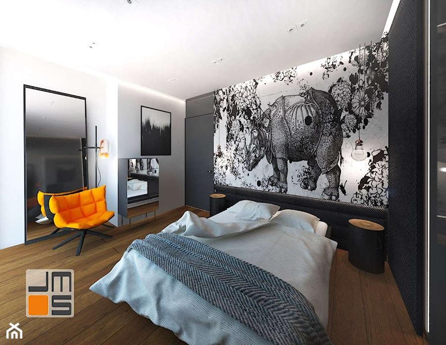 Dekoracyjna Tapeta Z Grafiką Jako Pomysł Na ścianę Zdjęcie