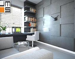 Pomysł na dekorację ściany z płytek gresowych w pokoju - zdjęcie od jms STUDIO s.c.