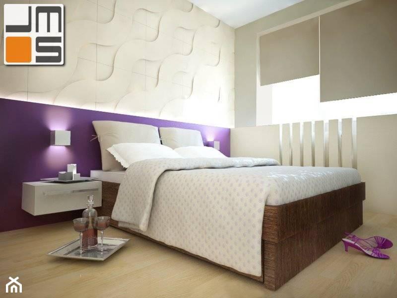 Ciekawy Pomysł Na Aranżację ściany Za łóżkiem W Sypialni Zdjęcie