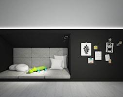 Classic always fashionable - Średni szary czarny pokój dziecka dla chłopca dla malucha dla nastolatk ... - zdjęcie od TEMA Architekci - Homebook
