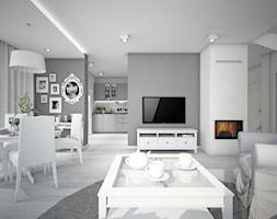 Classic always fashionable - Średni szary biały salon z kuchnią z jadalnią, styl klasyczny - zdjęcie od TEMA Architekci - Homebook