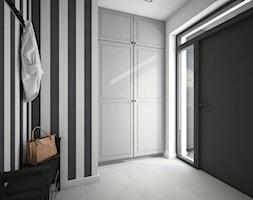 Classic always fashionable - Średni biały czarny hol / przedpokój, styl klasyczny - zdjęcie od TEMA Architekci - Homebook