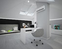 Classic always fashionable - Średni biały szary czarny pokój dziecka dla ucznia dla malucha, styl n ... - zdjęcie od TEMA Architekci - Homebook