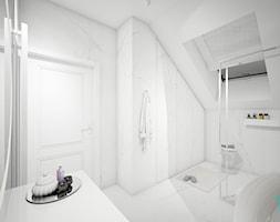 Classic beauty - Średnia biała łazienka na poddaszu w domu jednorodzinnym z oknem, styl klasyczny - zdjęcie od TEMA Architekci - Homebook