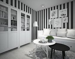 Classic always fashionable - Średnie czarne białe biuro kącik do pracy w pokoju, styl klasyczny - zdjęcie od TEMA Architekci - Homebook