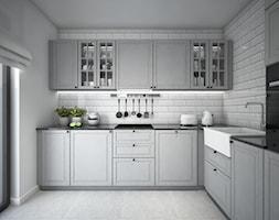 Classic always fashionable - Średnia zamknięta szara kuchnia w kształcie litery l z oknem, styl kla ... - zdjęcie od TEMA Architekci - Homebook