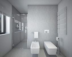 Classic always fashionable - Mała szara łazienka w bloku w domu jednorodzinnym z oknem, styl klasyc ... - zdjęcie od TEMA Architekci - Homebook