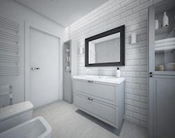 Classic always fashionable - Średnia biała łazienka w bloku w domu jednorodzinnym bez okna, styl kl ... - zdjęcie od TEMA Architekci - Homebook
