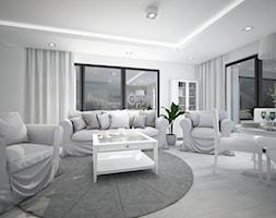 Classic always fashionable - Duży szary salon z jadalnią, styl klasyczny - zdjęcie od TEMA Architekci - Homebook