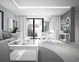 Classic always fashionable - Średni szary salon z jadalnią z tarasem / balkonem, styl klasyczny - zdjęcie od TEMA Architekci - Homebook
