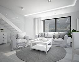 Classic always fashionable - Średni biały salon z jadalnią, styl klasyczny - zdjęcie od TEMA Architekci - Homebook